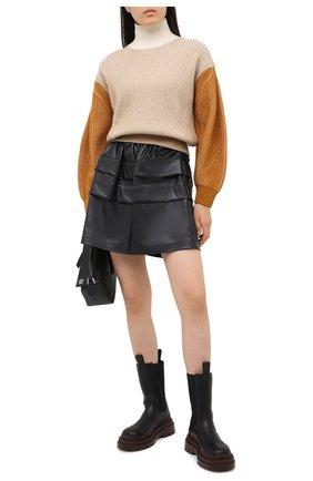 Женский шерстяной свитер KENZO бежевого цвета, арт. FA62PU5033AD | Фото 2