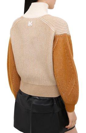 Женский шерстяной свитер KENZO бежевого цвета, арт. FA62PU5033AD | Фото 4