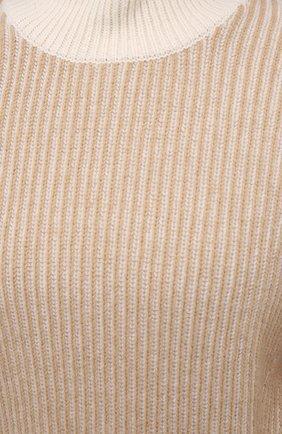 Женский шерстяной свитер KENZO бежевого цвета, арт. FA62PU5033AD | Фото 5