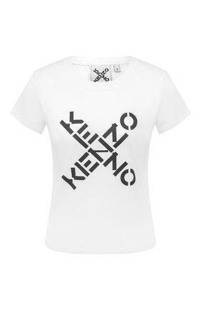 Женская хлопковая футболка kenzo sport KENZO белого цвета, арт. FA62TS7204SJ | Фото 1