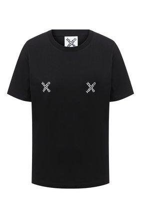 Женская хлопковая футболка kenzo sport KENZO черного цвета, арт. FA62TS9104SJ | Фото 1