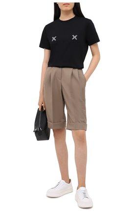 Женская хлопковая футболка kenzo sport KENZO черного цвета, арт. FA62TS9104SJ | Фото 2