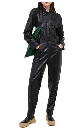 Женский комбинезон NANUSHKA черного цвета, арт. ASHT0N_BLACK_VEGAN LEATHER | Фото 2