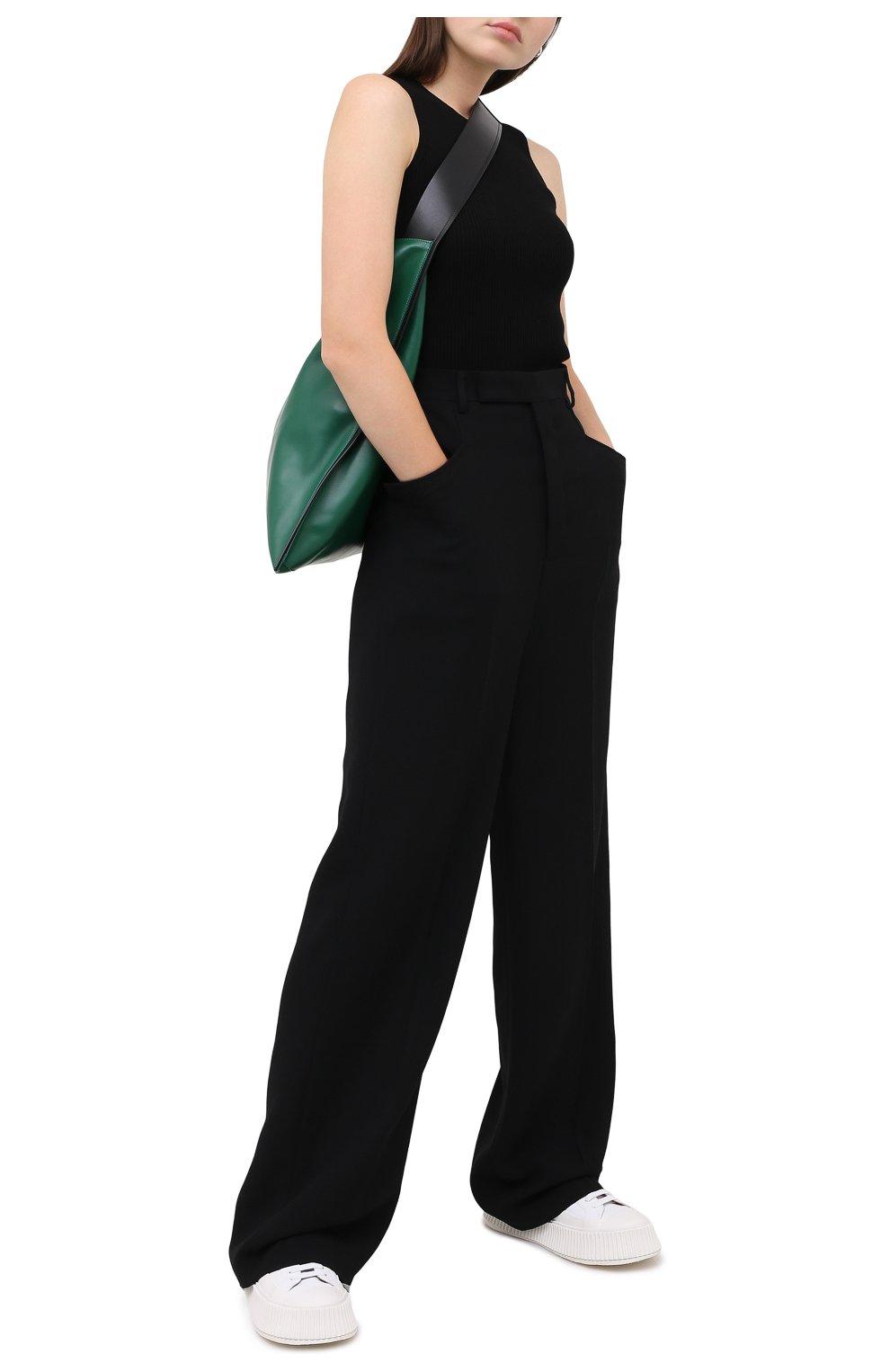Женский топ из вискозы NANUSHKA черного цвета, арт. JAYA_BLACK_C0MF0RT KNIT | Фото 2