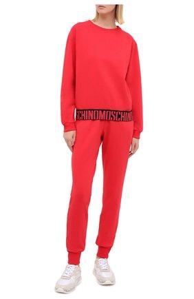 Женская хлопковый свитшот MOSCHINO UNDERWEAR WOMAN красного цвета, арт. A1739/9029 | Фото 2