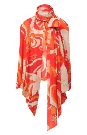 Женская блузка DRIES VAN NOTEN оранжевого цвета, арт. 202-30718-1062   Фото 1
