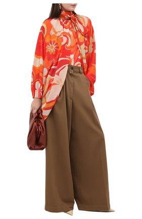 Женская блузка DRIES VAN NOTEN оранжевого цвета, арт. 202-30718-1062   Фото 2