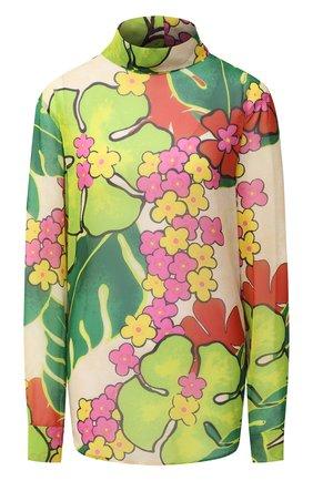Женская блузка DRIES VAN NOTEN зеленого цвета, арт. 202-30782-1062 | Фото 1