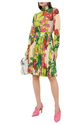 Женская блузка DRIES VAN NOTEN зеленого цвета, арт. 202-30782-1062 | Фото 2