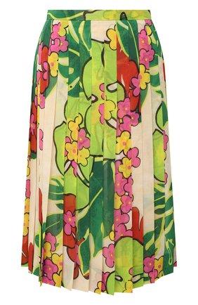 Женская юбка DRIES VAN NOTEN зеленого цвета, арт. 202-30886-1062 | Фото 1