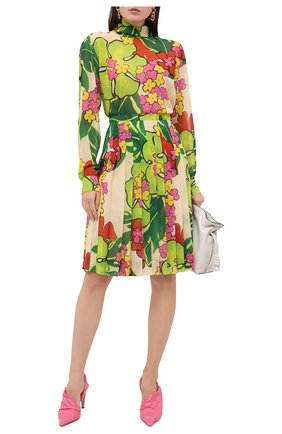Женская юбка DRIES VAN NOTEN зеленого цвета, арт. 202-30886-1062 | Фото 2