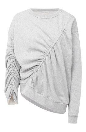 Женская хлопковый свитшот DRIES VAN NOTEN серого цвета, арт. 202-31194-1620 | Фото 1