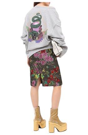 Женская хлопковый свитшот DRIES VAN NOTEN серого цвета, арт. 202-31194-1620 | Фото 2
