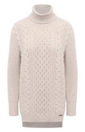 Женский свитер из шерсти и кашемира MANZONI24 кремвого цвета, арт. 20M739-X/38-46 | Фото 1