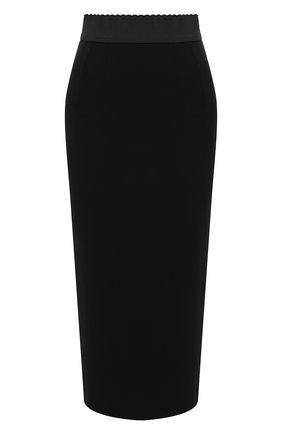 Женская юбка из вискозы DOLCE & GABBANA черного цвета, арт. F4BZZT/FUGKF | Фото 1