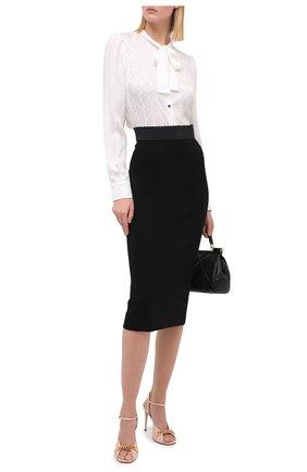 Женская юбка из вискозы DOLCE & GABBANA черного цвета, арт. F4BZZT/FUGKF | Фото 2