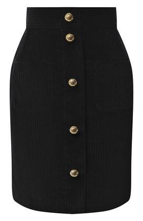 Женская хлопковая юбка DOLCE & GABBANA черного цвета, арт. F4BX5T/FUWCV | Фото 1