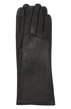 Женские кожаные перчатки AGNELLE черного цвета, арт. CHRISTINA/S | Фото 1
