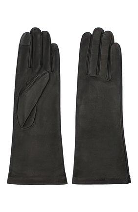Женские кожаные перчатки AGNELLE черного цвета, арт. CHRISTINA/S | Фото 2