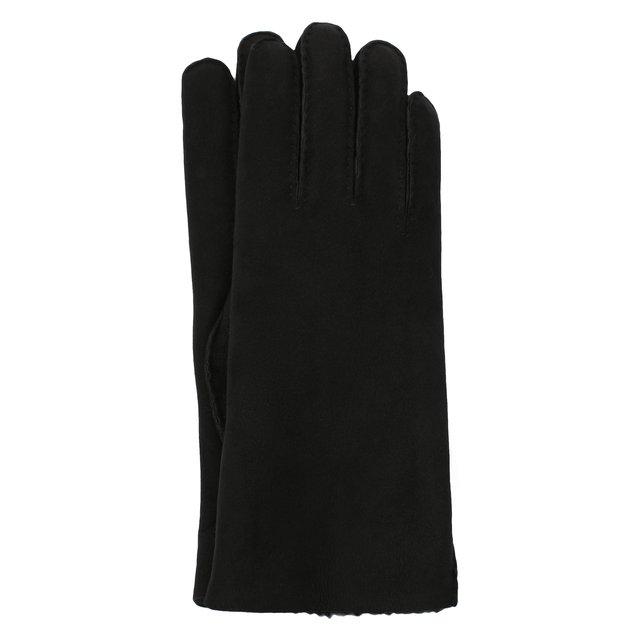 Замшевые перчатки с подкладкой из меха Agnelle