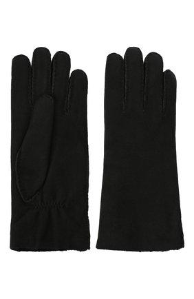 Женские замшевые перчатки с подкладкой из меха AGNELLE черного цвета, арт. DENISE | Фото 2