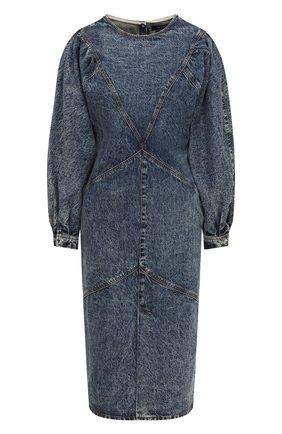 Женское джинсовое платье ISABEL MARANT синего цвета, арт. R01784-20A021I/UDREA   Фото 1