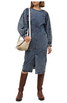 Женское джинсовое платье ISABEL MARANT синего цвета, арт. R01784-20A021I/UDREA   Фото 2