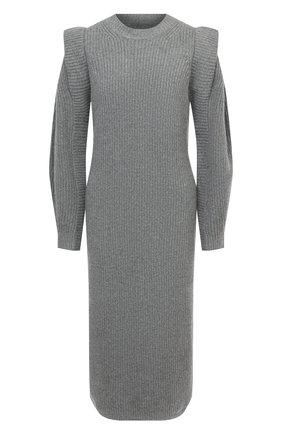 Женское платье из кашемира и шерсти ISABEL MARANT серого цвета, арт. R01806-20A038I/BEA | Фото 1