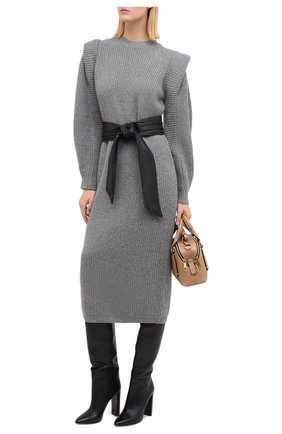 Женское платье из кашемира и шерсти ISABEL MARANT серого цвета, арт. R01806-20A038I/BEA | Фото 2