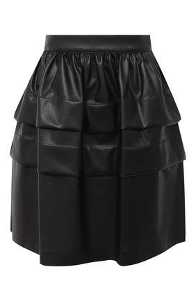 Женская юбка ERMANNO ERMANNO SCERVINO черного цвета, арт. 47T GN05 EC0 | Фото 1