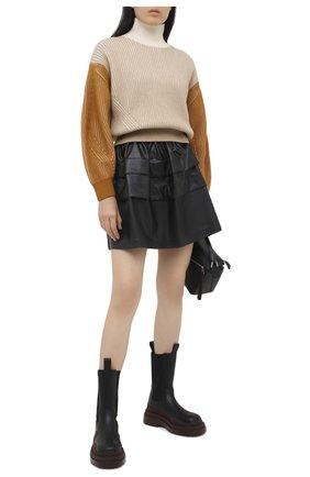 Женская юбка ERMANNO ERMANNO SCERVINO черного цвета, арт. 47T GN05 EC0 | Фото 2
