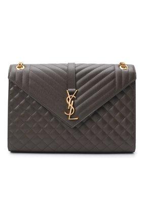 Женская сумка classic large SAINT LAURENT темно-серого цвета, арт. 600166/B0W91 | Фото 1