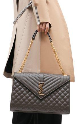 Женская сумка classic large SAINT LAURENT темно-серого цвета, арт. 600166/B0W91 | Фото 2