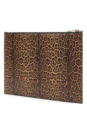 Женские кожаный футляр для документов rive gauche SAINT LAURENT леопардового цвета, арт. 635099/12S0J   Фото 2