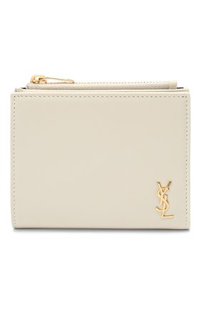 Женские кожаное портмоне classic SAINT LAURENT белого цвета, арт. 635265/02G0J | Фото 1