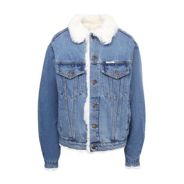 Джинсовая куртка с меховой подкладкой Forte Dei Marmi Couture.