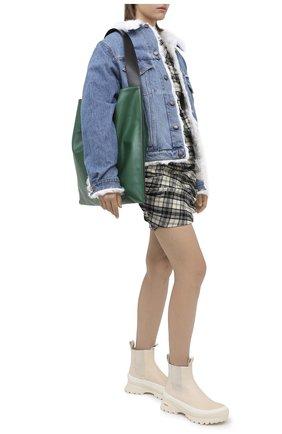 Женская джинсовая куртка с меховой подкладкой FORTE DEI MARMI COUTURE голубого цвета, арт. FFW19-1107-02 | Фото 2