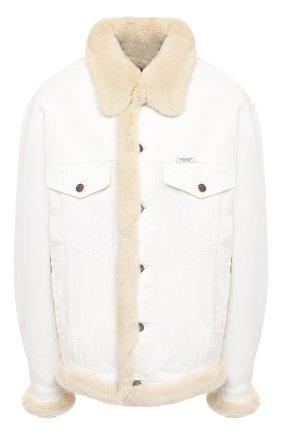Женская джинсовая куртка с меховой подкладкой FORTE DEI MARMI COUTURE разноцветного цвета, арт. 20WF7350-05 | Фото 1