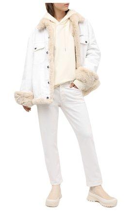 Женская джинсовая куртка с меховой подкладкой FORTE DEI MARMI COUTURE разноцветного цвета, арт. 20WF7350-05 | Фото 2