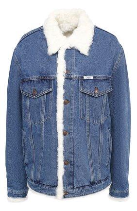 Женская джинсовая куртка с меховой подкладкой FORTE DEI MARMI COUTURE разноцветного цвета, арт. 20WF7350-06 | Фото 1