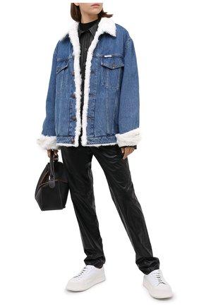 Женская джинсовая куртка с меховой подкладкой FORTE DEI MARMI COUTURE разноцветного цвета, арт. 20WF7350-06 | Фото 2