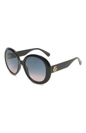 Женские солнцезащитные очки GUCCI черного цвета, арт. GG0712S 002   Фото 1