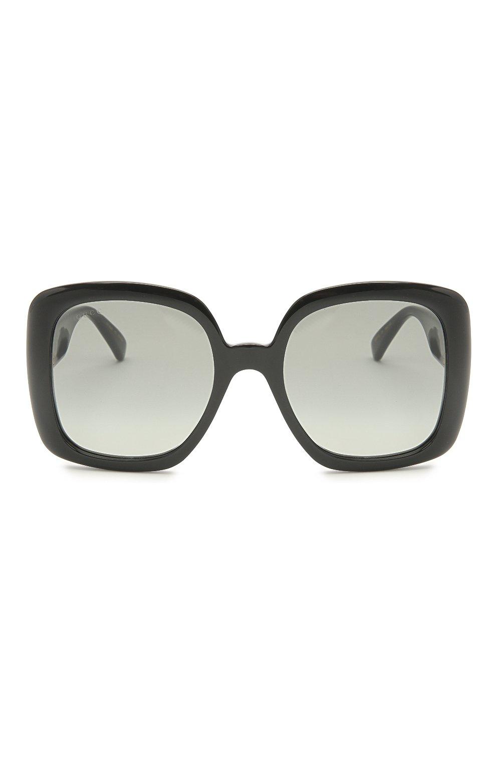 Женские солнцезащитные очки GUCCI черного цвета, арт. GG0713S 001   Фото 3