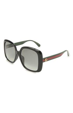 Женские солнцезащитные очки GUCCI черного цвета, арт. GG0714SA 001 | Фото 1