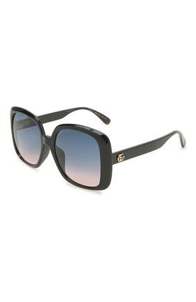 Женские солнцезащитные очки GUCCI черного цвета, арт. GG0714SA 002 | Фото 1