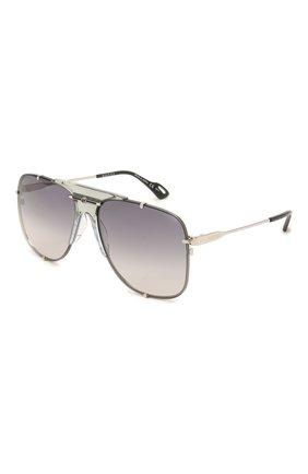 Мужские солнцезащитные очки GUCCI серебряного цвета, арт. GG0739S 001 | Фото 1