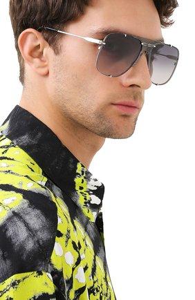 Мужские солнцезащитные очки GUCCI серебряного цвета, арт. GG0739S 001 | Фото 2