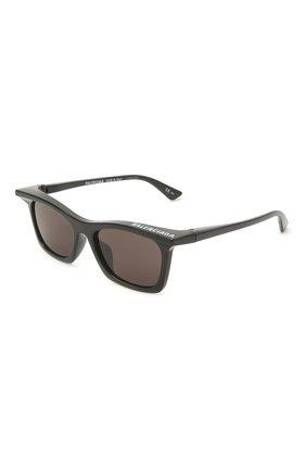 Женские солнцезащитные очки BALENCIAGA черного цвета, арт. BB0099S 001 | Фото 1