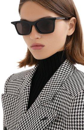 Женские солнцезащитные очки BALENCIAGA черного цвета, арт. BB0099S 001 | Фото 2