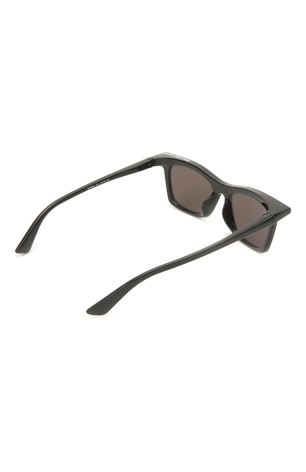Женские солнцезащитные очки BALENCIAGA черного цвета, арт. BB0099S 001 | Фото 4